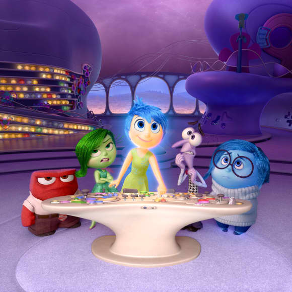 """""""Joy"""",  """"Fear"""", """"Anger"""", """"Disgust"""" and """"Sadness"""" from Inside Out"""