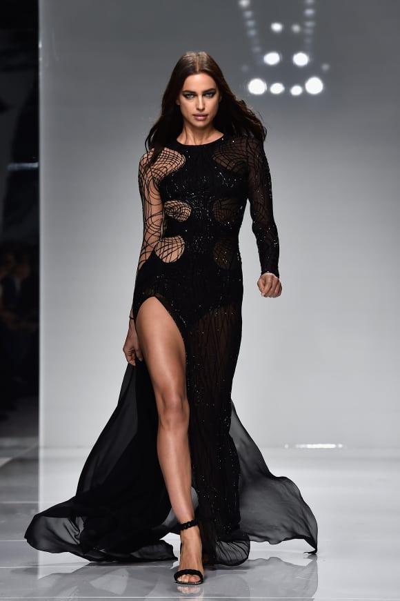 Irina Shayk auf der Versace-Fashion-Show