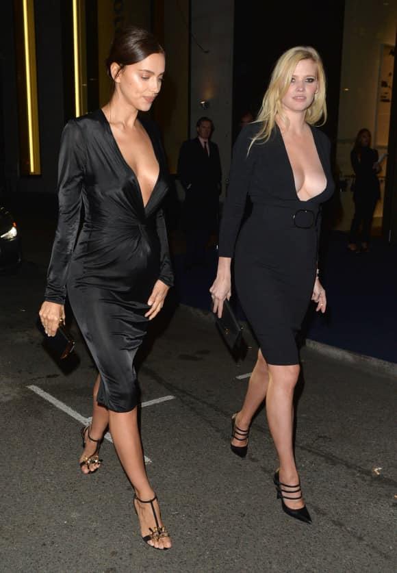 Irina Shayk und Lara Stone nach einem Club-Besuch in London