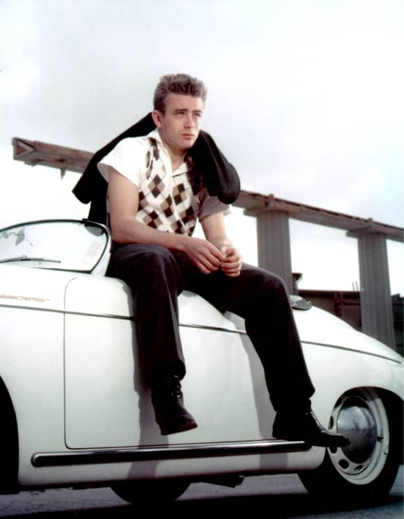 James Dean am Filmset