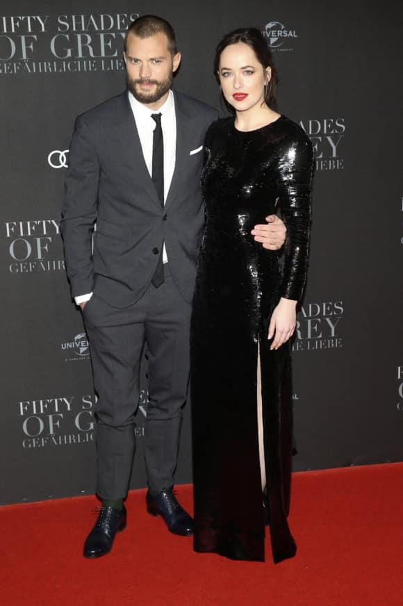 """Jamie Dornan und Dakota Johnson in Hamburg auf der Premiere von """"50 Shades Darker"""""""