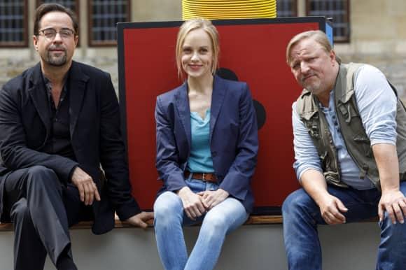 Jan Josef Liefers, Friederike Kempter und Axel Prahl