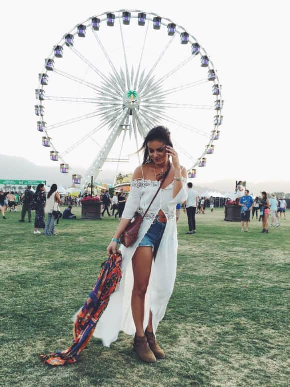 Janina Uhse auf dem Coachella Festival 2016