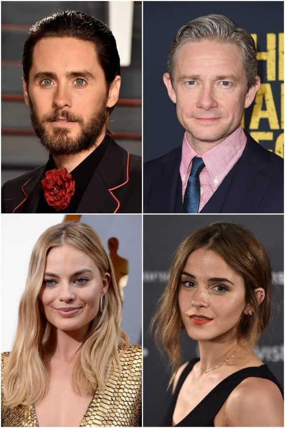 Jared Leto, Martin Freeman, Margot Robbie, Emma Watson