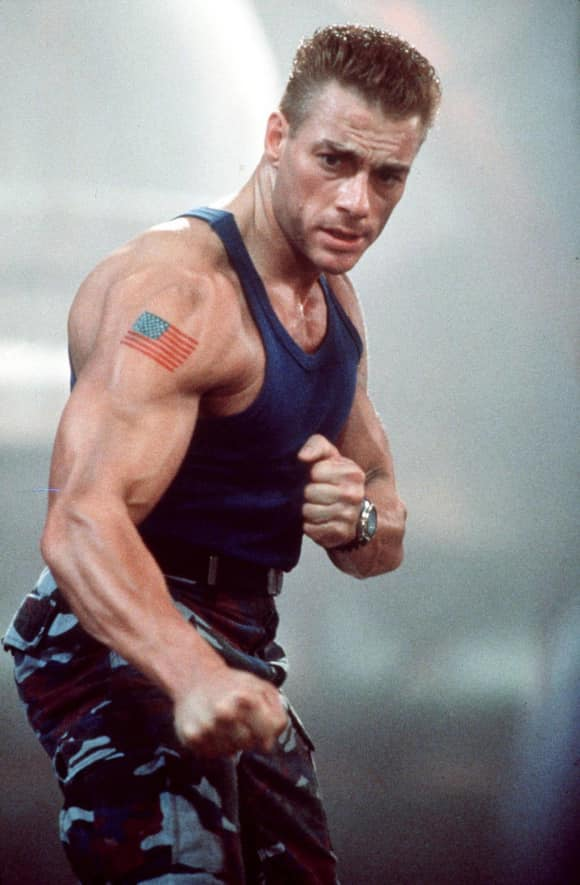 "Jean Claude van Damme in ""Streetfighter"""