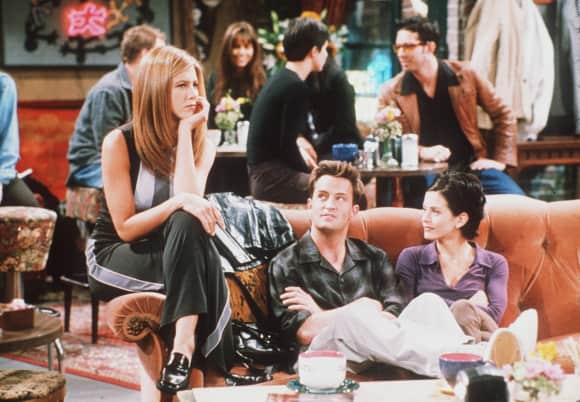 Jennifer Aniston, Matthew Perry und Courteney Cox