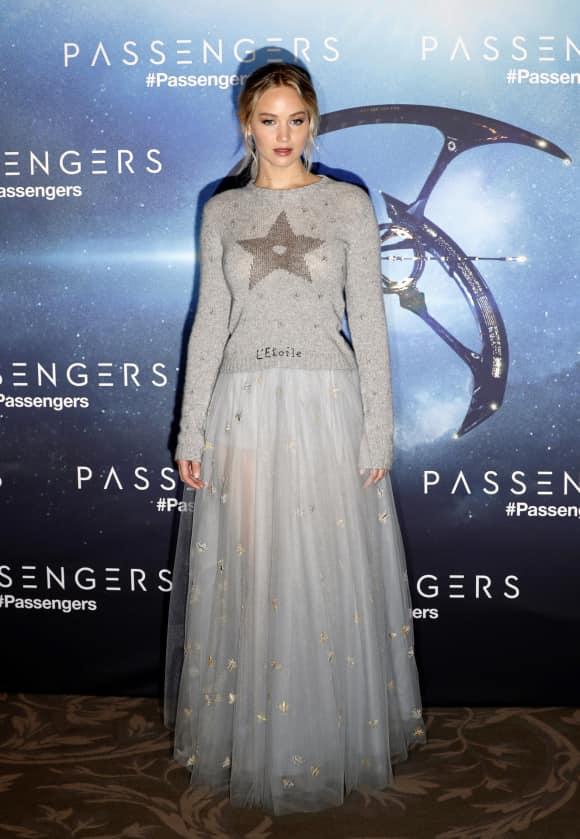 """Jennifer Lawrence bei einem Fototermin ihres letzten Filmes """"Passengers"""""""