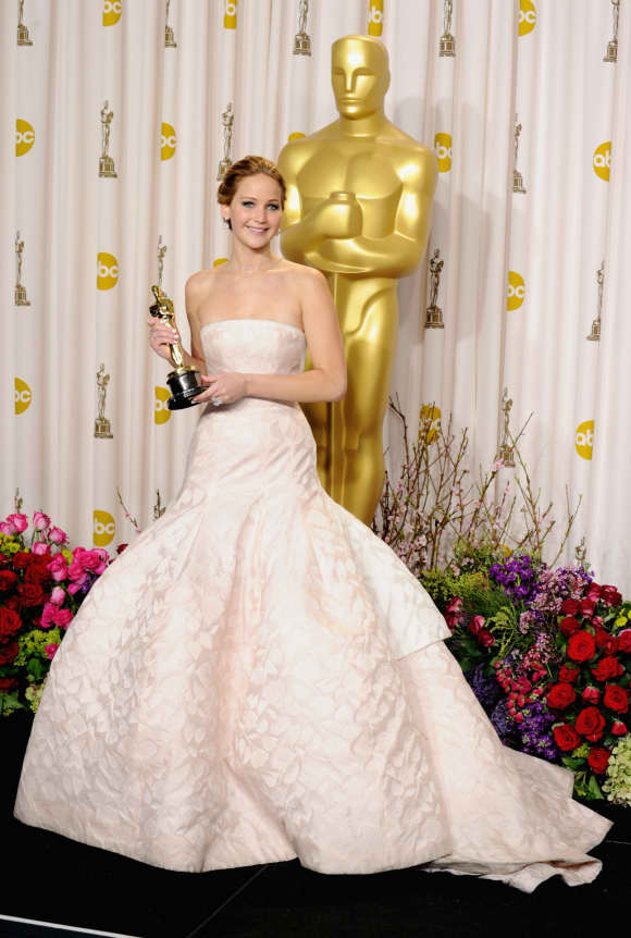 "Jennifer Lawrence won an Oscar for ""Silver Lininings Playbook"""