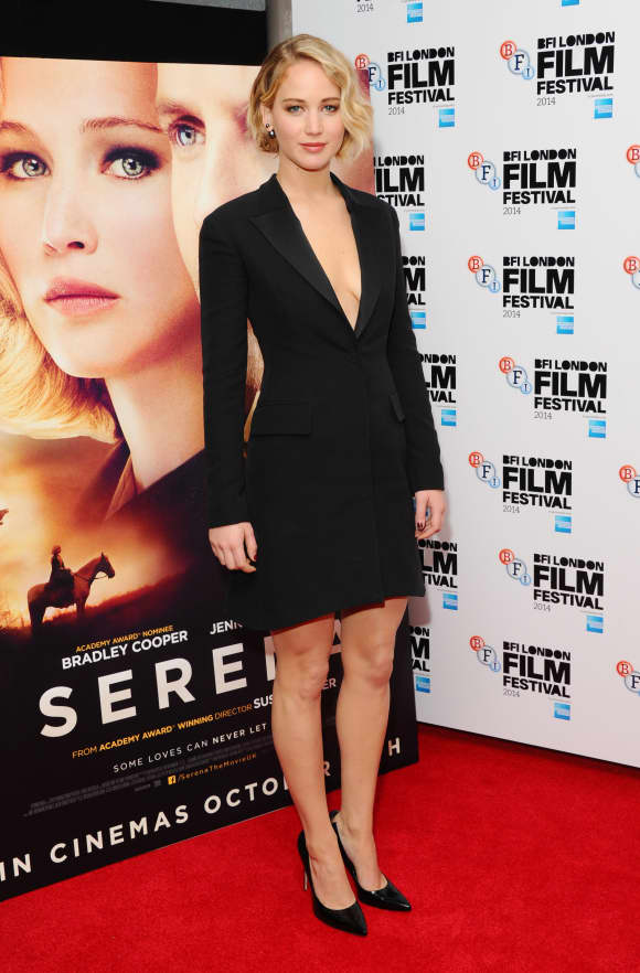 "Jennifer Lawrence beim ""BFI London Film Festival"" im Jahr 2014"