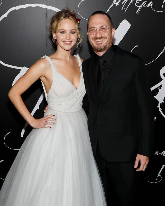 """Jennifer Lawrence und Darren Aronofsky bei der Premiere zu """"mother!"""""""
