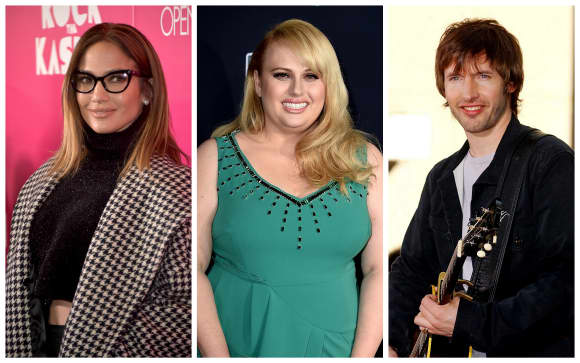 Die Stars Jennifer Lopez, Rebel Wilson und James Blunt