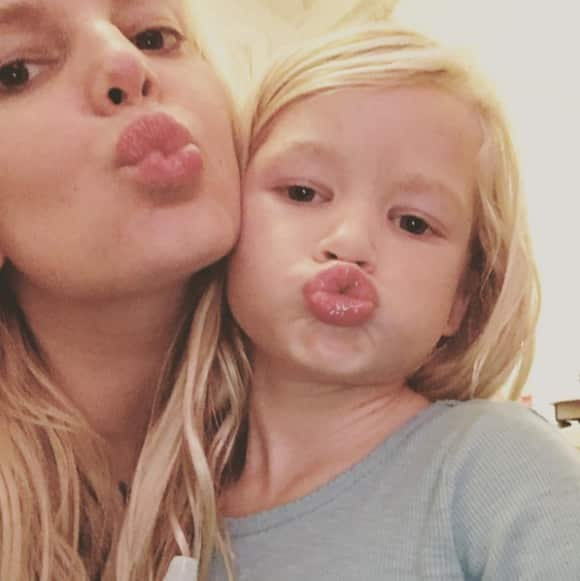 Jessica Simpson with daughter Maxwell Drew