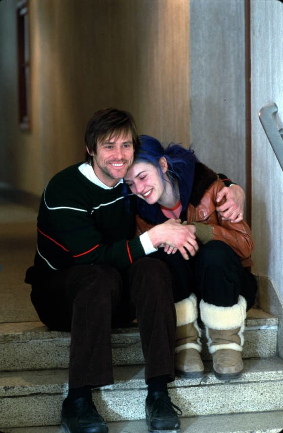 "Jim Carrey and Kate Winslet in ""Eternal Sunshine Of A Spotless Mind"""