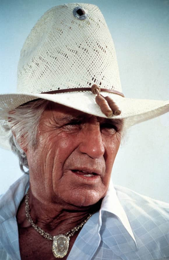 "Jim Davis playing the role of ""Jock Ewig"" in ""Dallas"""