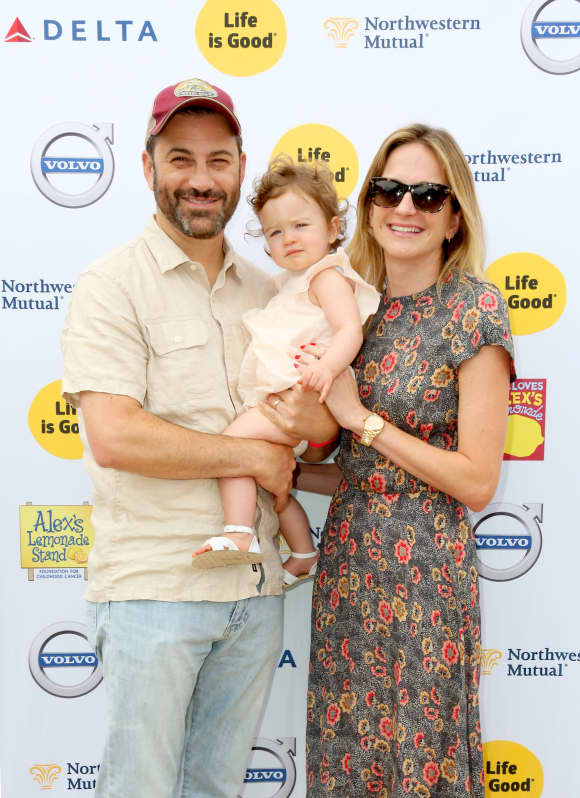 Jimmy Kimmel and Molly McNearney with daughter Jane Kimmel