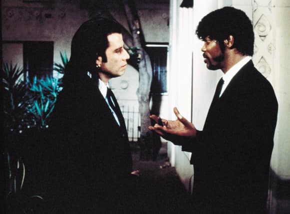 "John Travolta und Samuel L. Jackson in ""Pulp Fiction"""