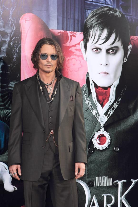 "Johnny Depp at the ""Dark Shadows"" premiere"
