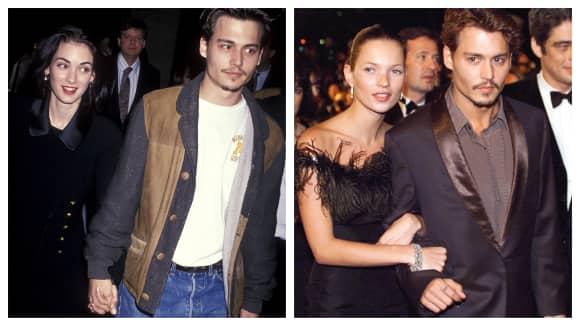 Schauspieler Johnny Depp war mal mit Winona Ryder und mit Kate Moss zusammen
