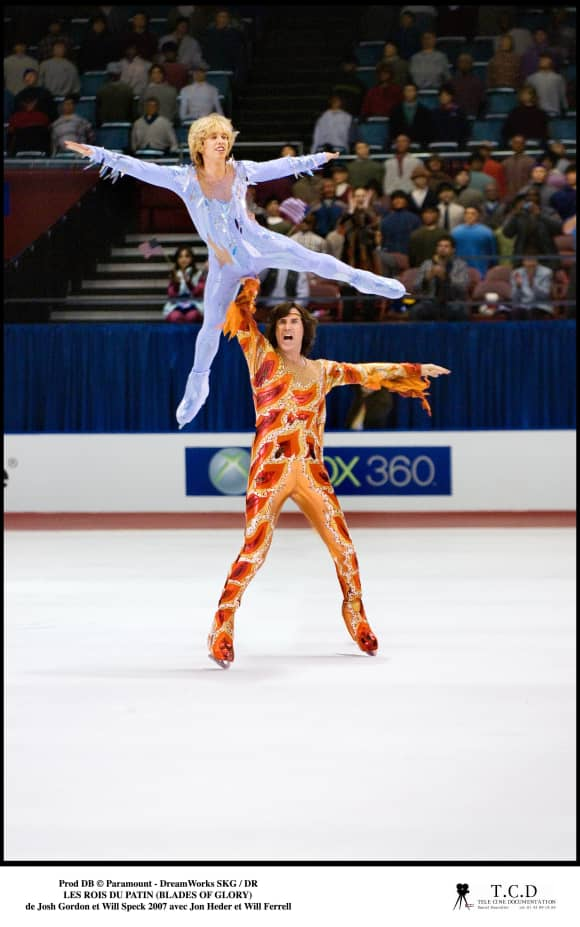 "Jon Heder and Will Ferrell in ""Blades Of Glory"""