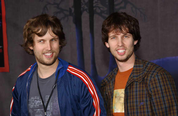 Actor Jon Heder with his twin brother Dan Heder