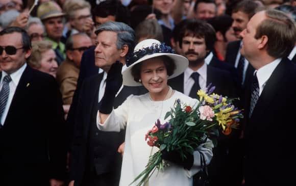 Königin Elizabeth 1978 zu Besuch in Berlin Staatsbesuch Deutschland