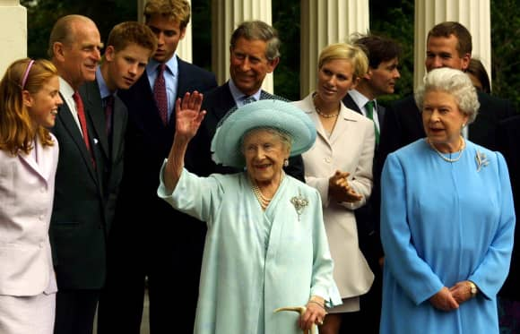 Queen Elizabeth II and Queen Mum