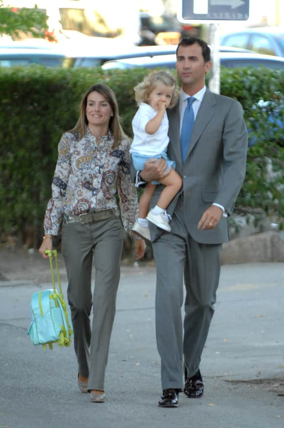 Queen Letizia of Spain, Princess Leonor and King Felipe of Spain