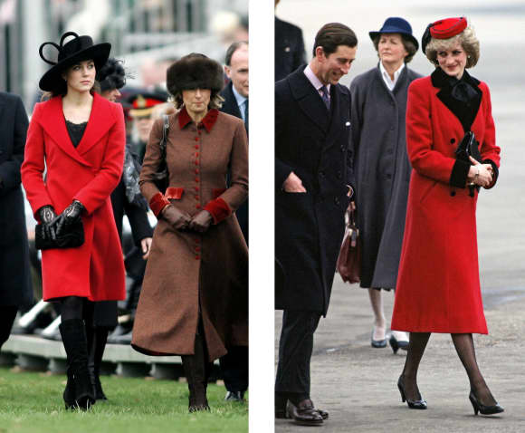 Duchess Catherine and Lady Diana