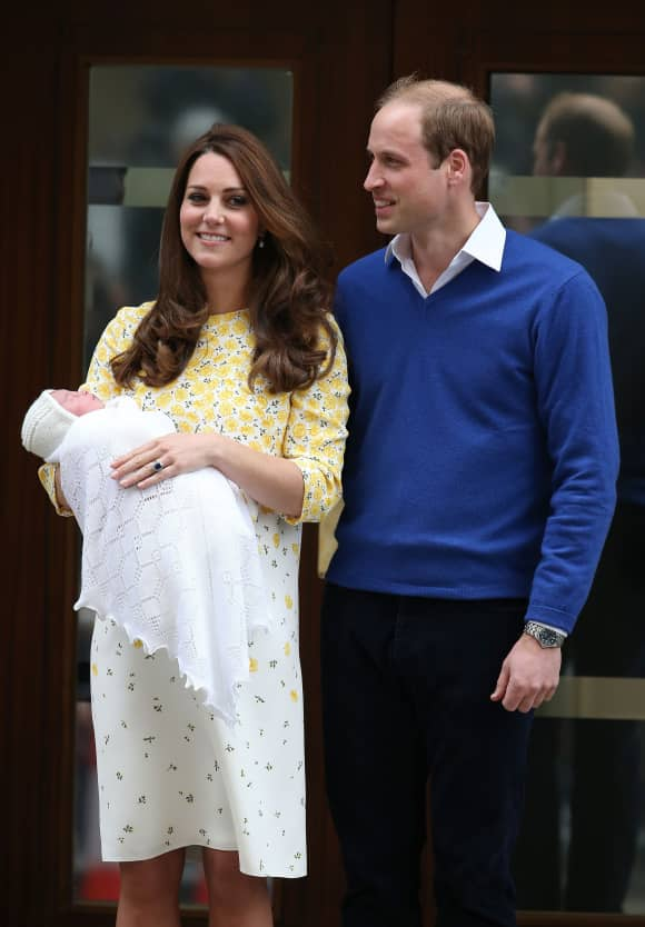 One of the first pictures of little Princess Charlotte