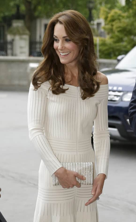 Duchess Catherine showing shoulders