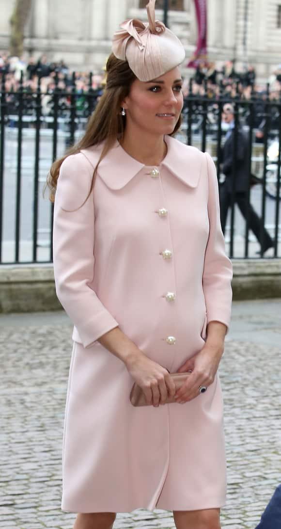 Kate Middleton beim Besucht der Westminster Abbey