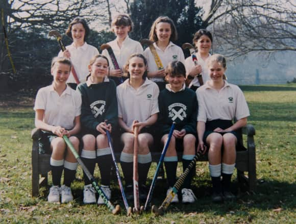 Duchess Catherine as a teenager playing hockey
