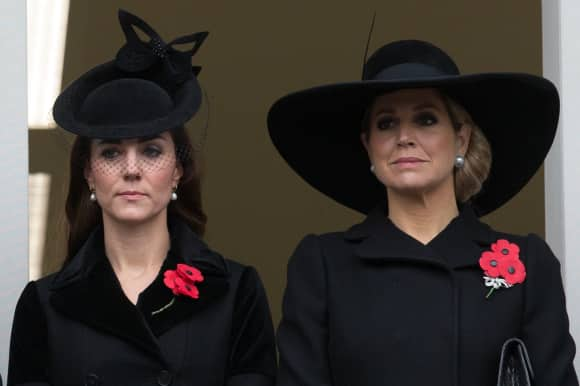 "Kate Middleton und Königin Maxima gedenken am ""Remembrance Sunday""  gemeinsam"