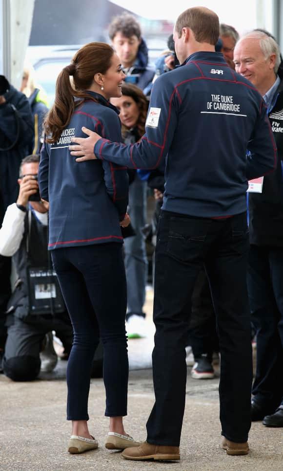 Herzogin Kate und Prinz William erschienen im Partnerlook