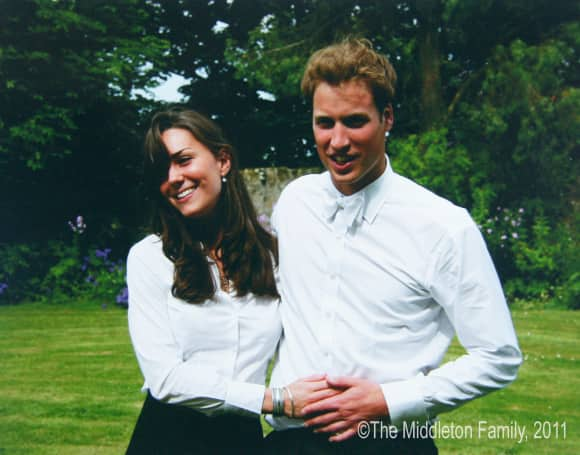 Duchess Catherine and Prince William in 2011