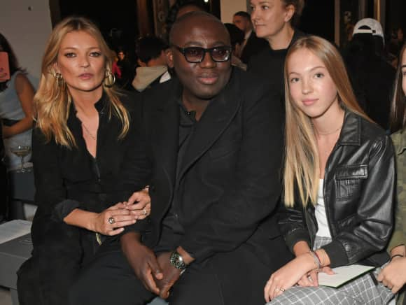 Kate Moss, Edward Enninful and Lila Grace Moss