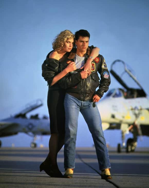 """Kelly McGillis und Tom Cruise in """"Top Gun"""" 1986"""