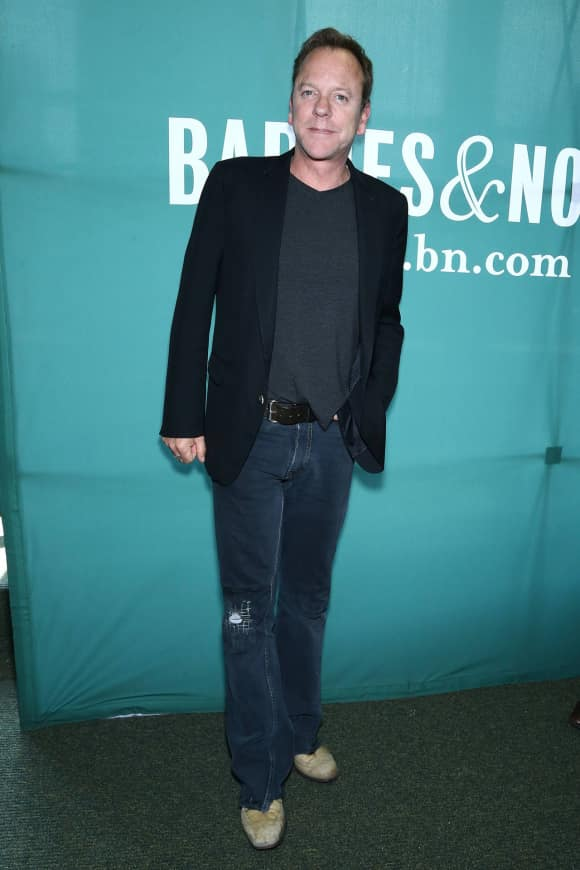 "Kiefer Sutherland at the launch party for his album ""Down in a Hole"""