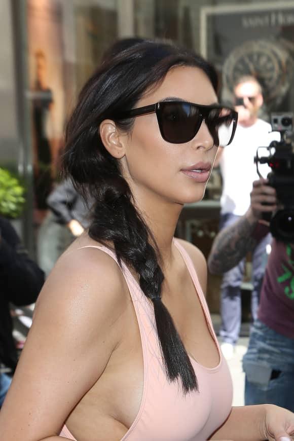 Kim Kardashian bei einem Shopping-Ausflug in Paris