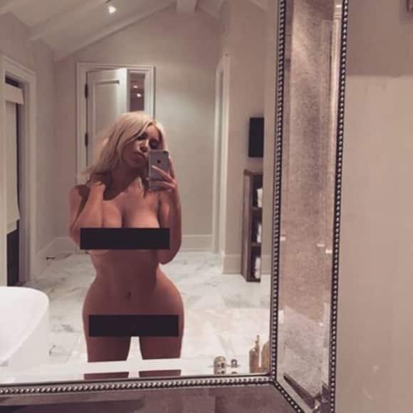 Reality-Star Kim Kadashian postete ein Nackt-Selfie