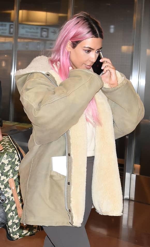 Kim Kardashian pinke Haare