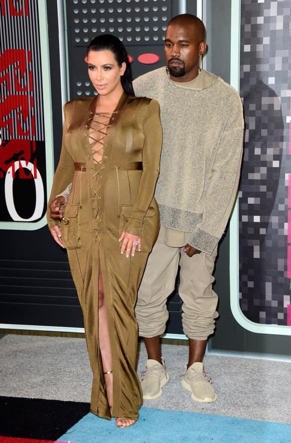 Kim Kardashian und Kanye West bei den VMAs