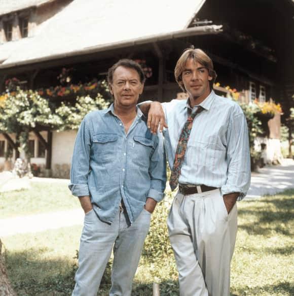 Klausjürgen Wussow und Sascha Hehn 1985