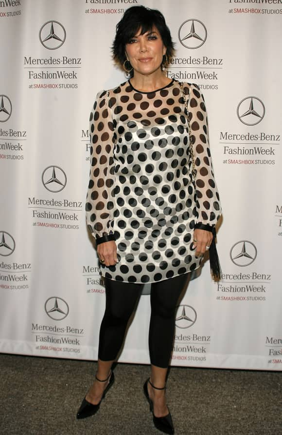 Kris Jenner at the Mercedes Benz Fashion Week