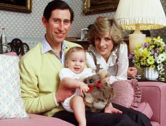 Princess Diana, Prince Charles and Prince William 1983