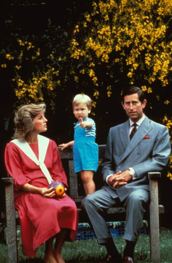 Princess Diana, Prince William and Prince Charles