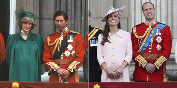 Lady Diana and Duchess Catherine - pregnant for the first time