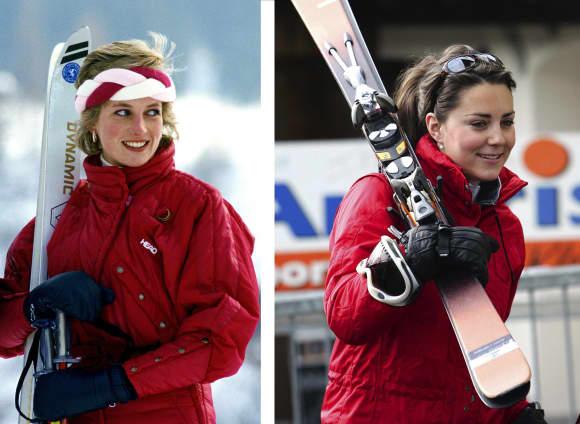 Lady Diana and Duchess Catherine: sporty the stylish way