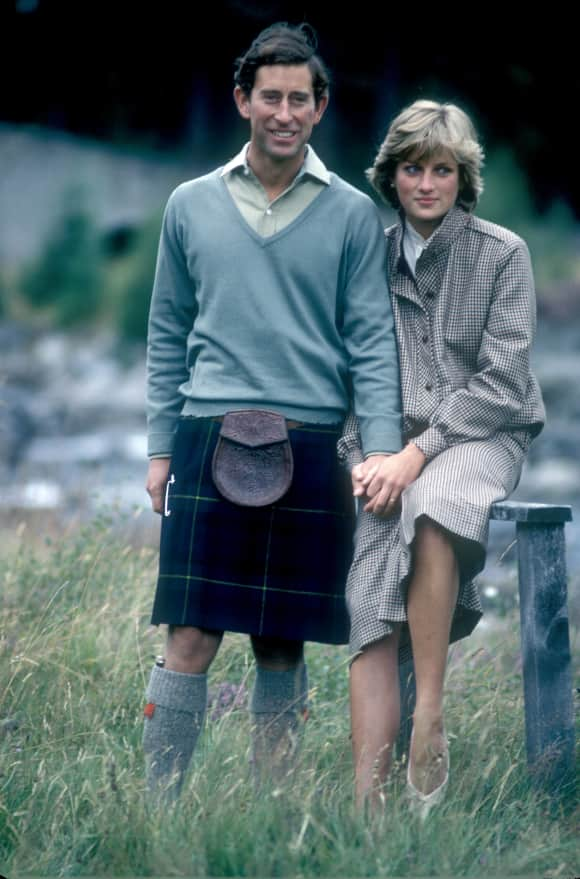 Diana and Charles on vacation in Scotland.