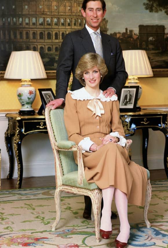 Lady Diana und Prinz Charles in ihrer Wohnung im Kensington Palast
